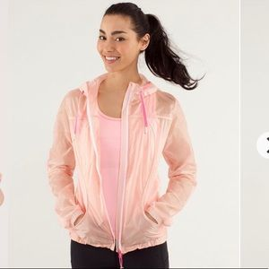 Lululemon Transparent See Jacket Pink Parfait